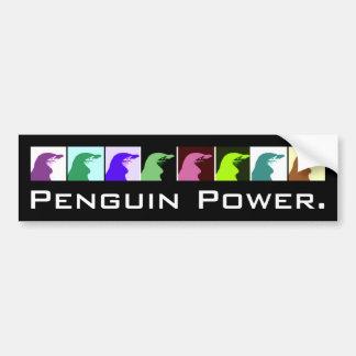 ペンギン力のバンパーステッカー バンパーステッカー