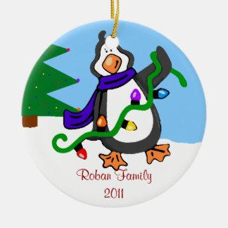 ペンギン家族の名前 セラミックオーナメント