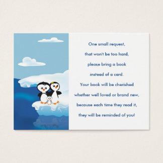 ペンギン家族の本の要求カード 名刺