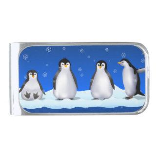 ペンギン家族 シルバー マネークリップ