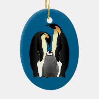 ペンギン家族 セラミックオーナメント