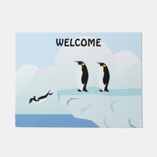 ペンギン家族 ドアマット