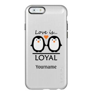 ペンギン愛カスタムのケース INCIPIO FEATHER SHINE iPhone 6ケース