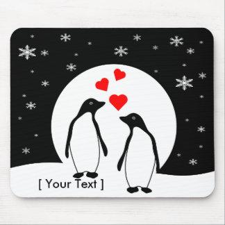ペンギン愛カップルのマウスパッド マウスパッド