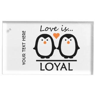 ペンギン愛テーブルの帯出登録者 テーブルカードホルダー