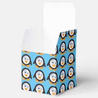 ペンギン2x2箱のクリスマスの円 フェイバーボックス
