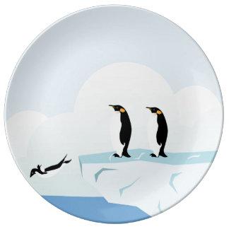 ペンギン 磁器プレート