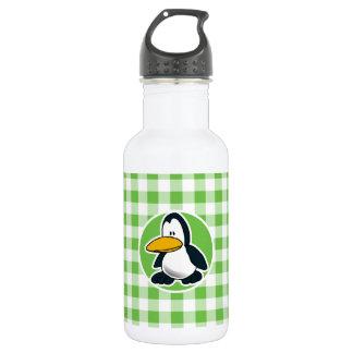 ペンギン; 緑のギンガム ウォーターボトル