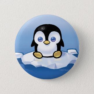 ペンギン 5.7CM 丸型バッジ