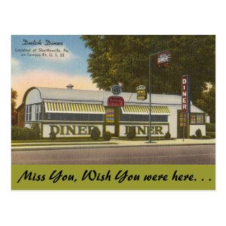 ペンシルバニアのオランダのダイナー、Shartlesville ポストカード