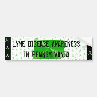 ペンシルバニアのバンパーのライム病の認識度 バンパーステッカー