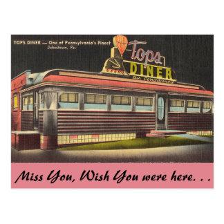 ペンシルバニアの上のダイナー ポストカード
