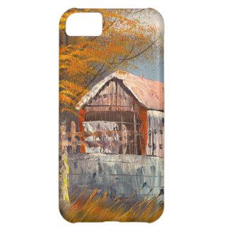 ペンシルバニアの古い屋根付橋の絵画 iPhone5Cケース