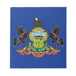 ペンシルバニアの国家の旗が付いているメモ帳 ノートパッド