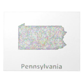 ペンシルバニアの地図 ノートパッド