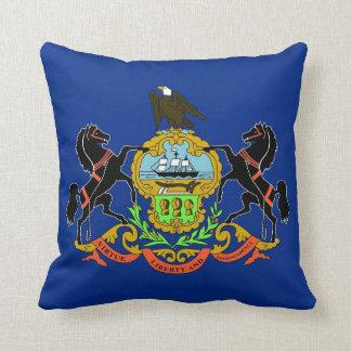 ペンシルバニアの州の旗のアメリカ人のMoJoの枕 クッション