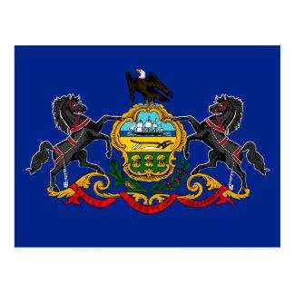 ペンシルバニアの州の旗のデザイン ポストカード
