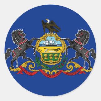 ペンシルバニアの州の旗 ラウンドシール