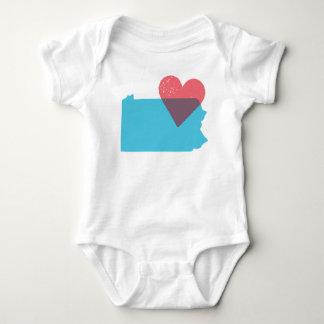 ペンシルバニアの州愛ベビーのワイシャツ ベビーボディスーツ