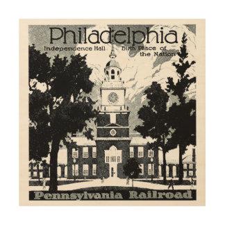 ペンシルバニアの鉄道の訪問フィラデルヒィア ウッドウォールアート