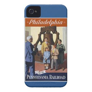 ペンシルバニアの鉄道の訪問フィラデルヒィア Case-Mate iPhone 4 ケース