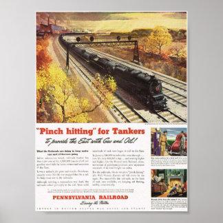 ペンシルバニアの鉄道タンカーは1942年を訓練します ポスター