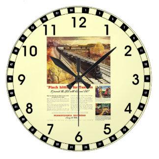 ペンシルバニアの鉄道タンカーは1942年を訓練します ラージ壁時計