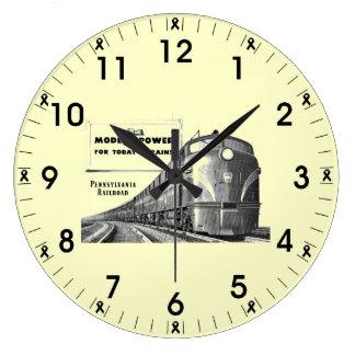 ペンシルバニアの鉄道モダンな列車力 ラージ壁時計