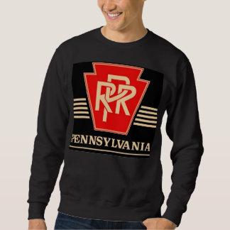 ペンシルバニアの鉄道ロゴの黒及び金ゴールド スウェットシャツ