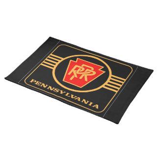 ペンシルバニアの鉄道ロゴ、黒及び金ゴールド ランチョンマット