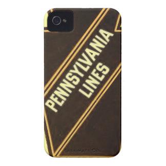 ペンシルバニアの鉄道ヴィンテージのロゴのiphone 4ケース iPhone 4 カバー