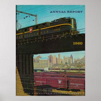 ペンシルバニアの鉄道年報1960年 ポスター