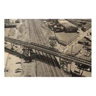 ペンシルバニアの鉄道海岸タワー ウッドウォールアート