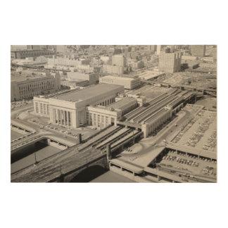 ペンシルバニアの鉄道第30通りの場所Woodsnap ウッドウォールアート