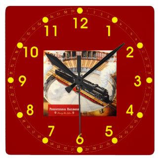 ペンシルバニアの鉄道蒸気タービンの柱時計 スクエア壁時計