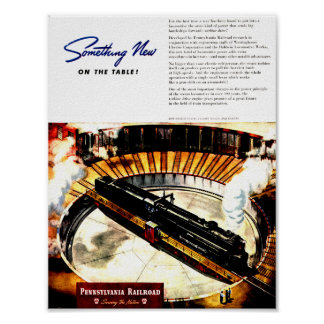 ペンシルバニアの鉄道蒸気タービンポスター ポスター