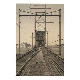 ペンシルバニアの鉄道Delair橋 ウッドウォールアート