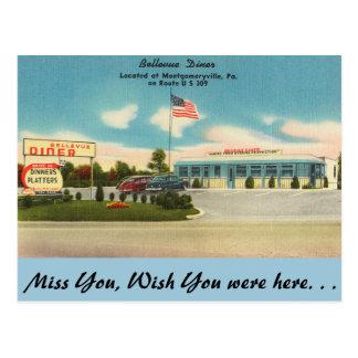 ペンシルバニアのBellevueのダイナー、Montgomeryville ポストカード