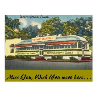 ペンシルバニアのDowningtownのダイナー、Downingtown ポストカード