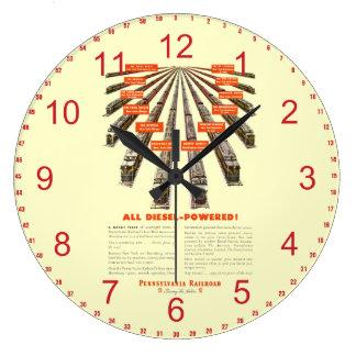 ペンシルバニアは東西の完全にディーゼルを今強行採決します ラージ壁時計