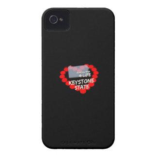 ペンシルバニア州のための蝋燭のハートのデザイン Case-Mate iPhone 4 ケース