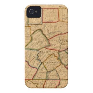 ペンシルバニア州の地図 Case-Mate iPhone 4 ケース