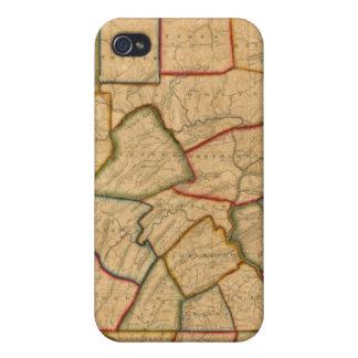 ペンシルバニア州の地図 iPhone 4/4S COVER