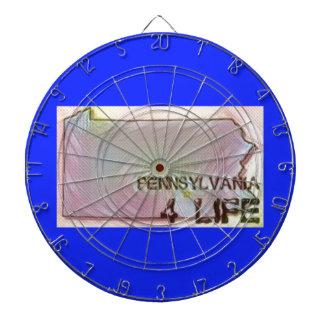 """""""ペンシルバニア4生命""""の州の地図のプライドのデザイン ダーツボード"""