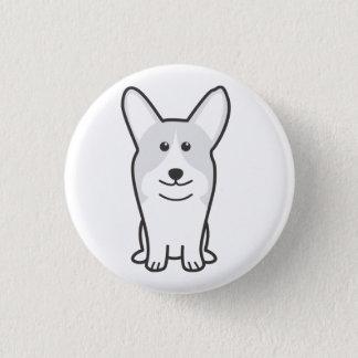 ペンブロークのウェルシュコーギー犬の漫画 缶バッジ