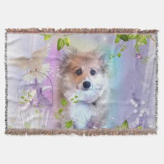 ペンブロークのコーギーの子犬 スローブランケット