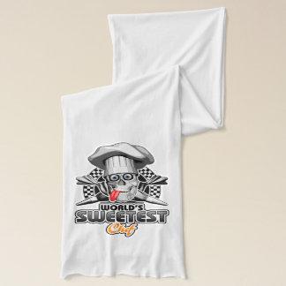 ペーストリー作りの職人: 世界で最も甘いシェフv5 (B&W) スカーフ