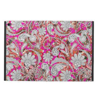 ペーズリーかわいく白いピンクのパターン POWIS iPad AIR 2 ケース