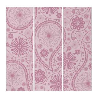 ペーズリーピンクのパターン トリプティカ