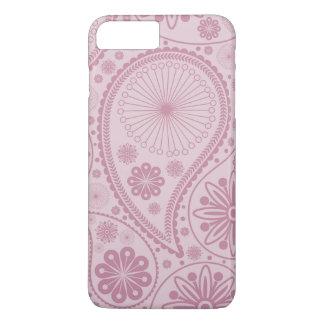ペーズリーピンクのパターン iPhone 8 PLUS/7 PLUSケース